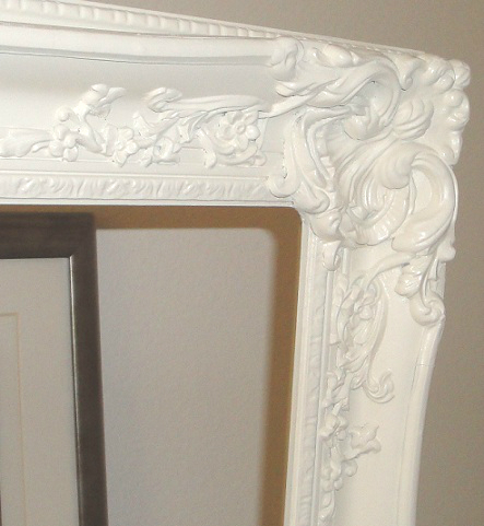 The Picture Above Is Frame Sprayed With Heirloom White Before I Lied Antiquing Glaze To It A Good Shot For Showing How