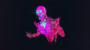 Robot, Skeleton, Sci-Fi, Digital Art, 4K, #4.2019