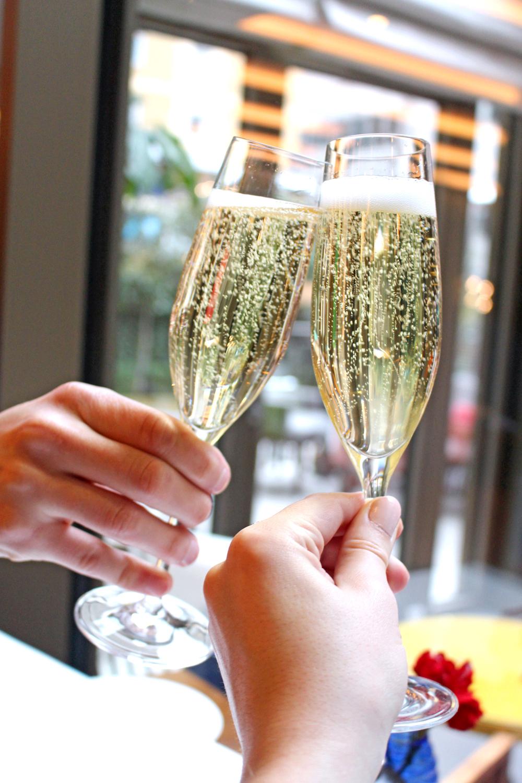 Champagne brunch at the Devonshire Club - London restaurant blog