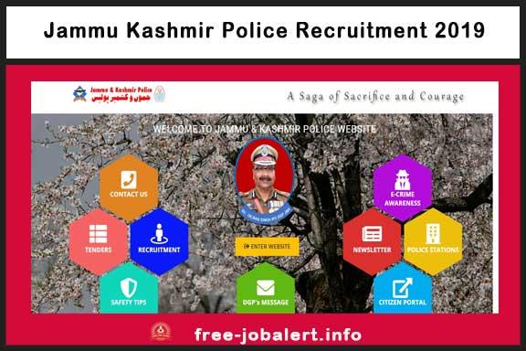 Jammu Kashmir Police Recruitment 2019, JKP Bharti 2019, Defence Jobs, Jammu & Kashmir