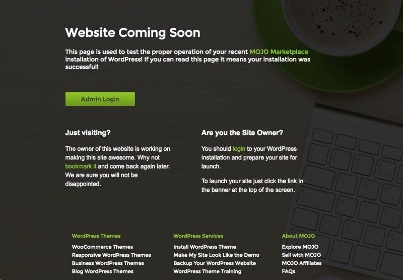 Cómo desactivar el Mojo mercado Próximamente en tu página ...
