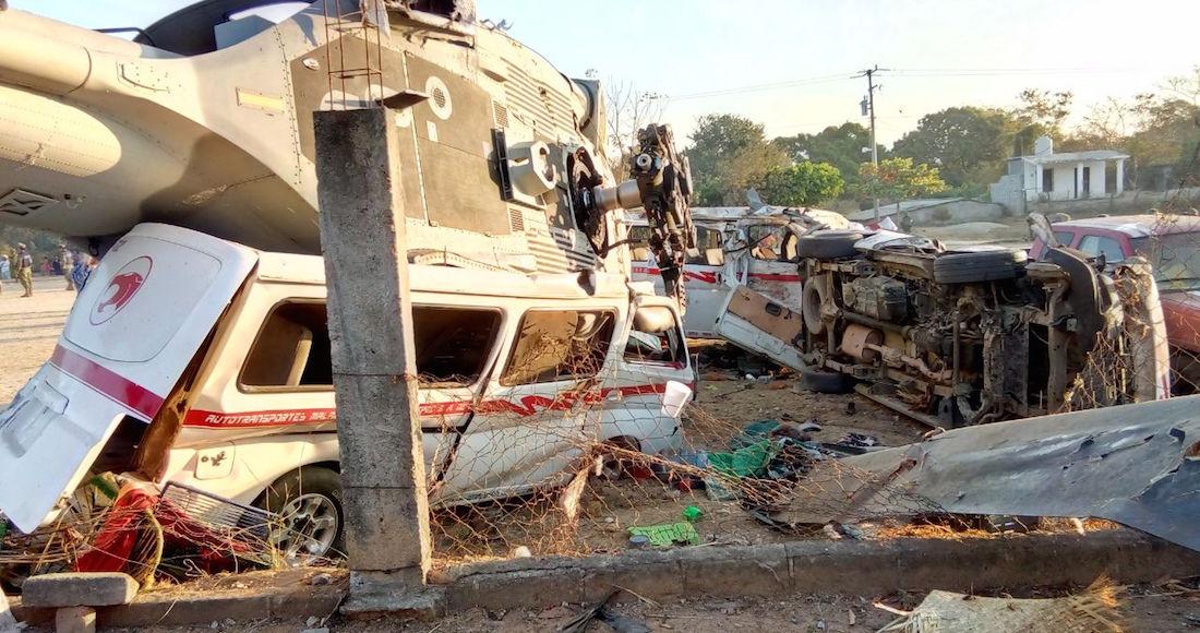 El desplome del helicóptero donde viajaba Navarrete deja 13 fallecidos, entre ellos, 3 menores