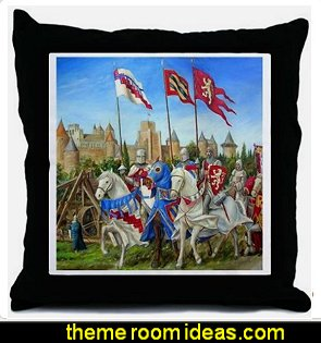 Siege of Carcassonne Throw Pillow medieval theme decorating medieval decor