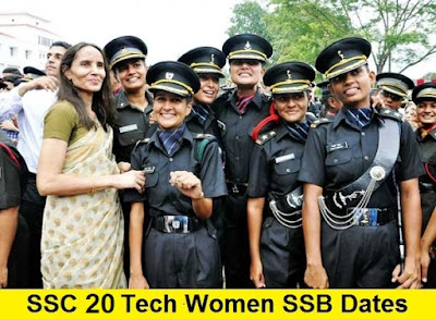 SSC 20 Tech Women SSB Dates, Centre Allotment and Merit List