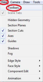 Mengembalikan Toolbar yang Hilang Pada Sketchup