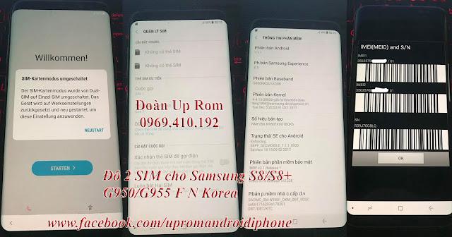 Dịch vụ độ 2 sim cho SamSung Chip Exynos Galaxy S9 Plus Note