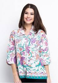 Model Baju Batik Kantor Wanita Modern Terbaru