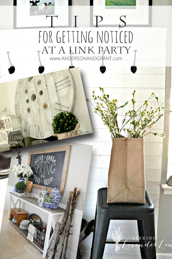 5 Tips for Getting Noticed at a Link Party - Great ideas for making your blog photos stand out!  |  www.andersonandgrant.com