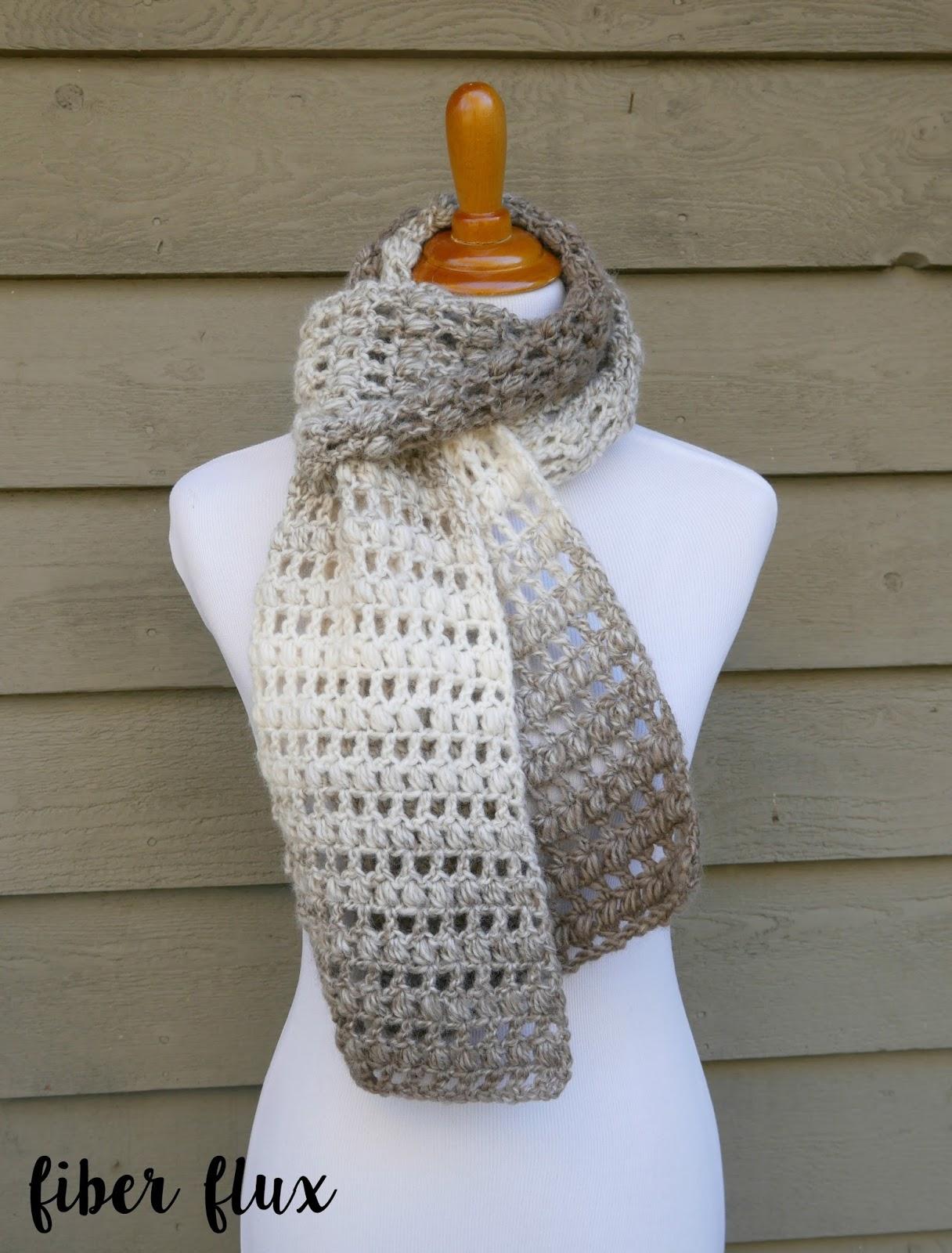 Fiber Flux Free Crochet Patterntea Leaves Scarf