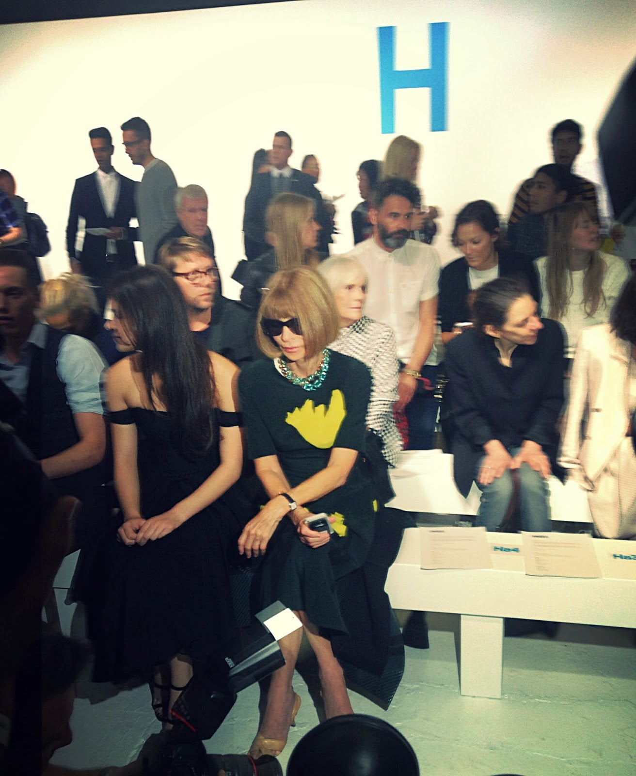 Anna Wintour Front Row Topshop Unique