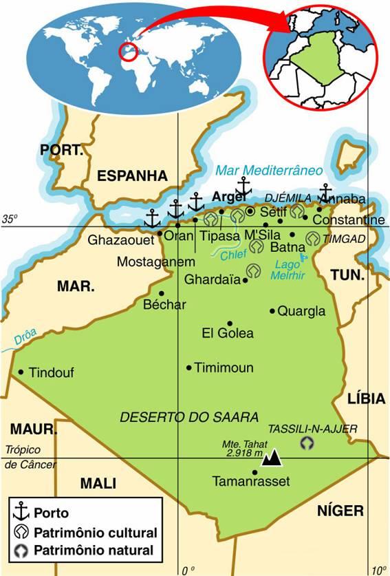 Argélia - Aspectos Geográficos e Sociais da Argélia