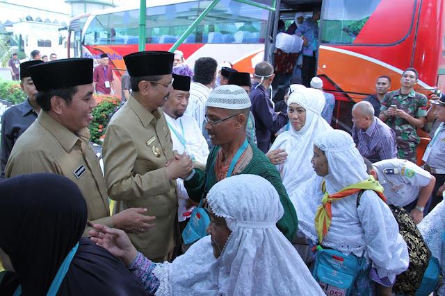 Alhamdulillah, Jamaah Haji Kloter I Embarkasi Medan Telah Tiba