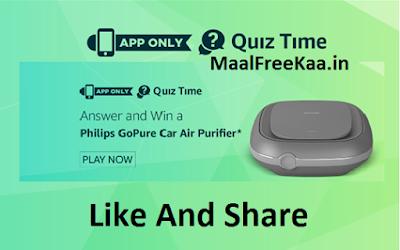Free Philips Car Air Purifier