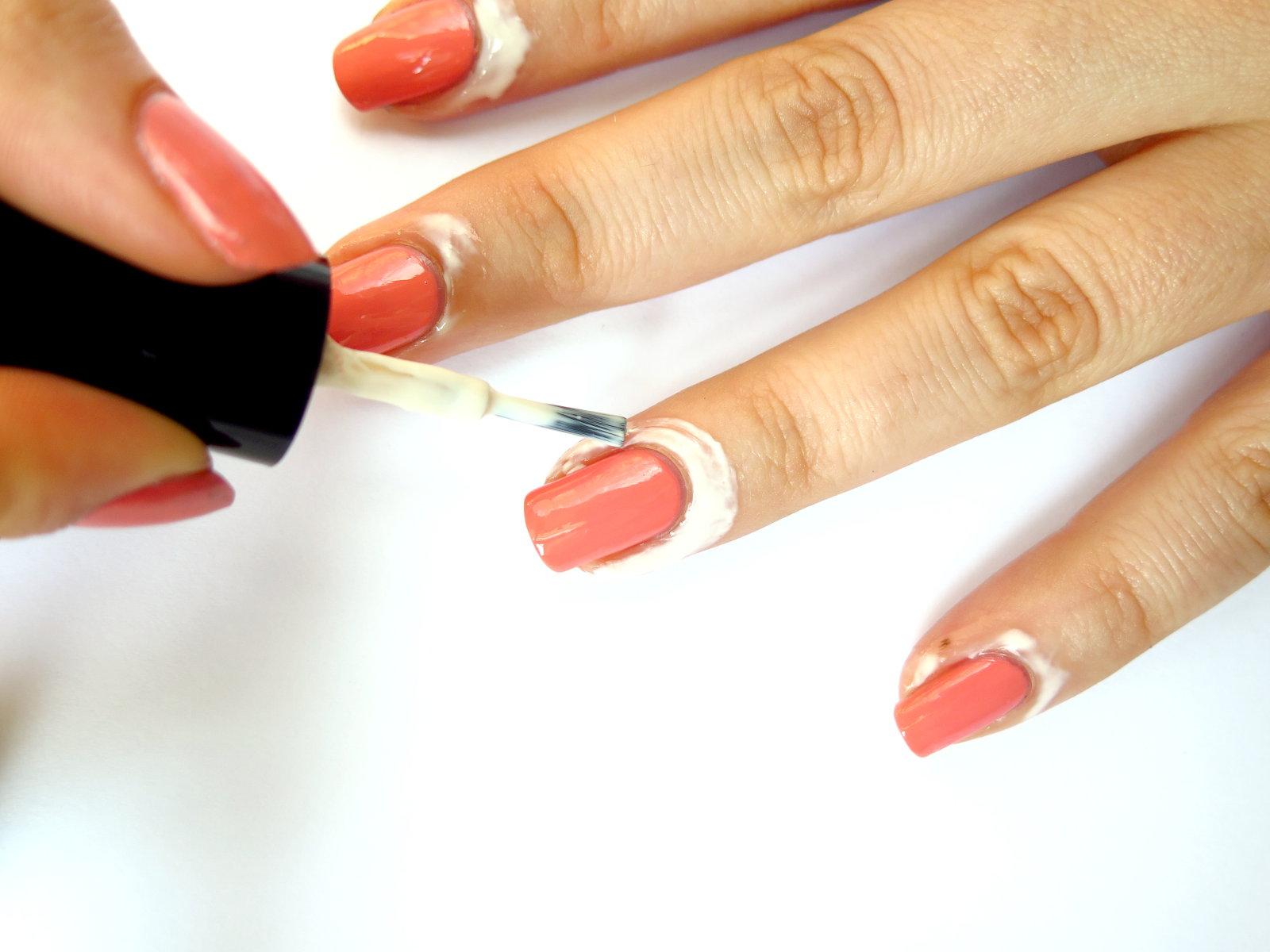 jak zrobić ombre gradient na paznokciach ochrona skórek bez brudzenia lateks