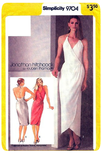 Vintage Simplicity Patterns 9704  - Halter Wrap Dress -- Erica B's DIY Style