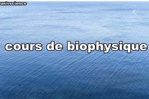 cours de biophysique svi s3