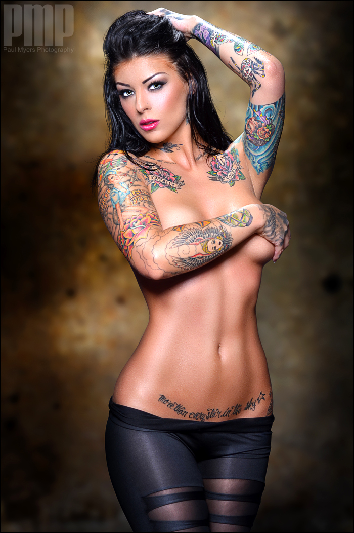 2 beautiful inked girls share a big black guy 4