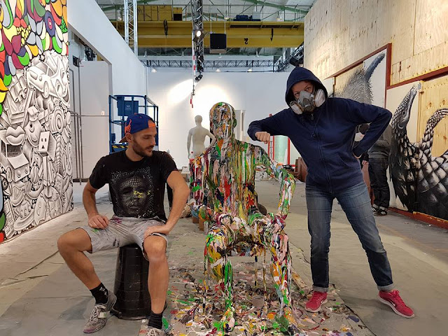 Ben Heine Art - Flesh and Acrylic - Magic City (2016)