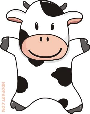 Convert Bitmap To Vector Service Download Cartoon Vector Cute Cow