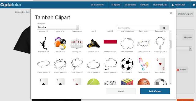 Desain Kaos Online di Ciptaloka, Bisa Langsung di Order