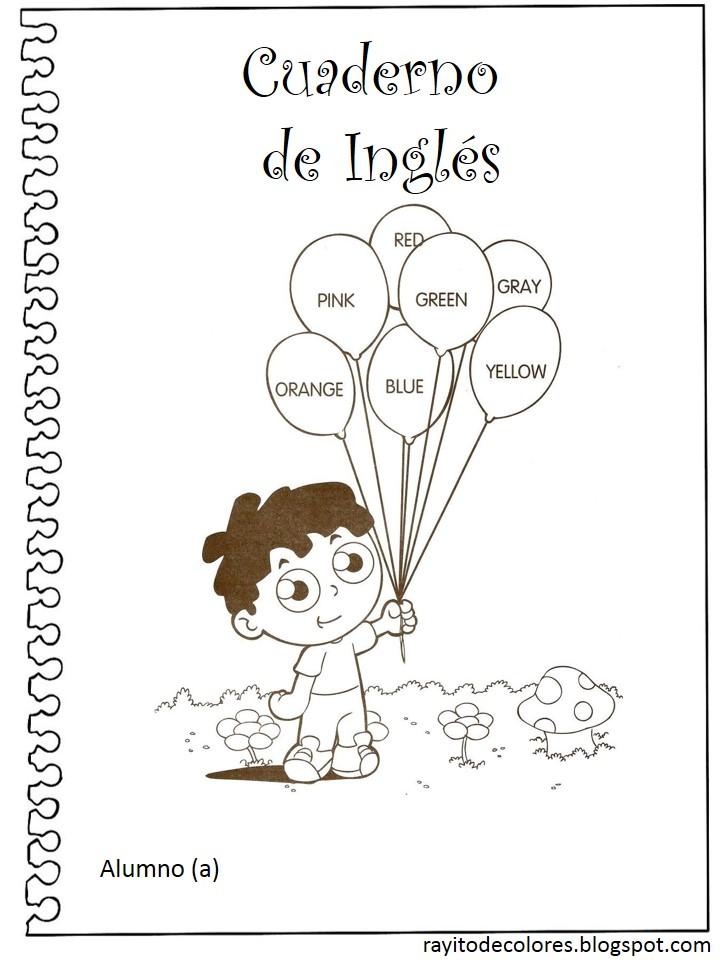 carátula escolar para inglés