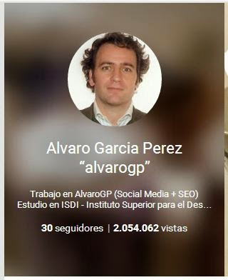 ÁlvaroGP - Álvaro García - Social Media & SEO Strategist - MIBer - 2000000 visitas en Google+ - Identidad Digital - Reputación Digital - Redes Sociales - Web Corporativa - Generación de Contenidos - Content Manager - Blogs - el troblogdita - IAA-Spain - ADECEC - Expolingua - Madrid Convention Bureau - GMD - CODIB - OMWEEK - Mobile Marketing Day - Narrare la Storia