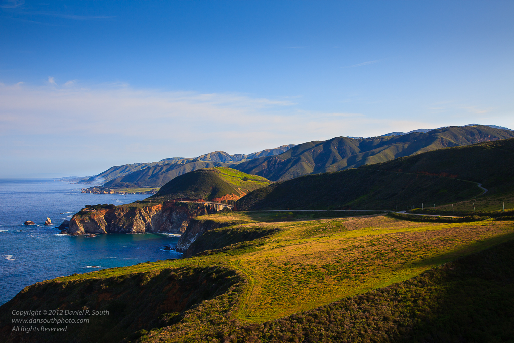 a photo of the big sur coast from hurricane point
