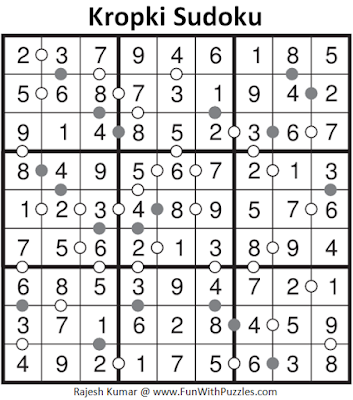 Kropki Sudoku (Fun With Sudoku #111) Solution