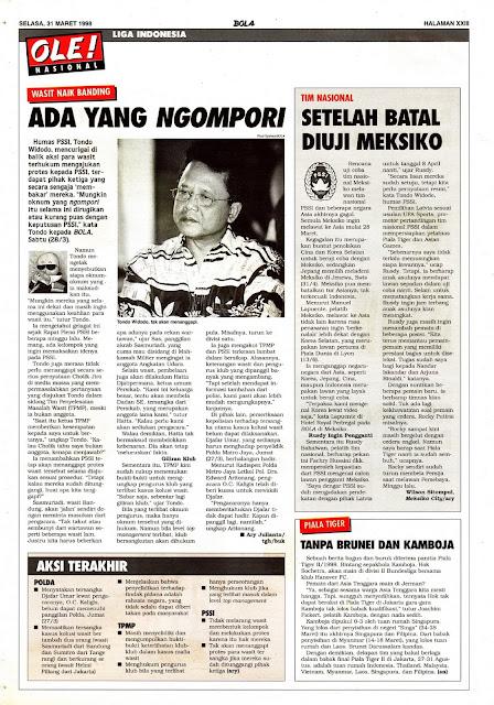 BERITA SEPAKBOLA WASIT LIGA INDONESIA 1998