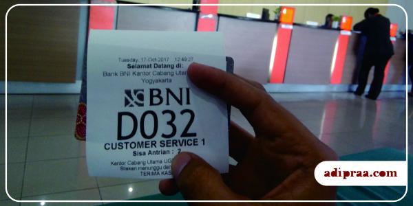 Antrian Customer Service BNI | adipraa.com