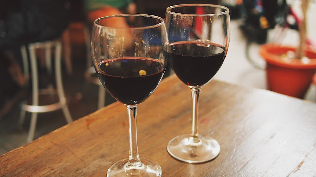 Alcohol eg. wine causes inflammation