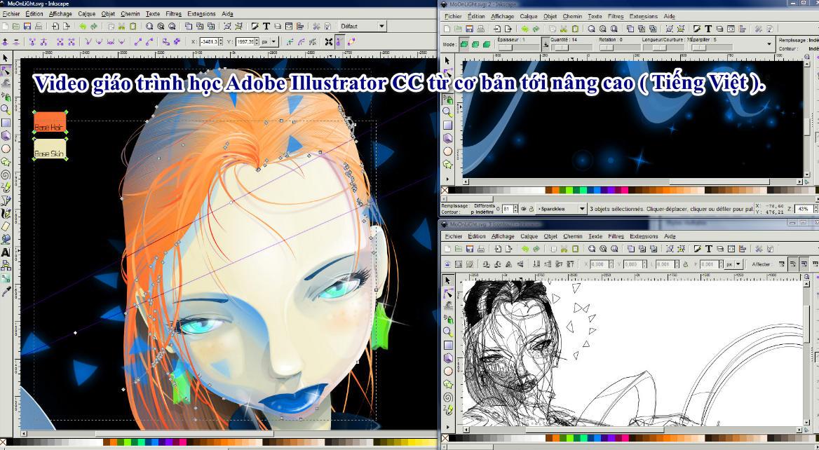 Video giáo trình học Adobe Illustrator CC từ cơ bản tới nâng cao ( Tiếng Việt ).