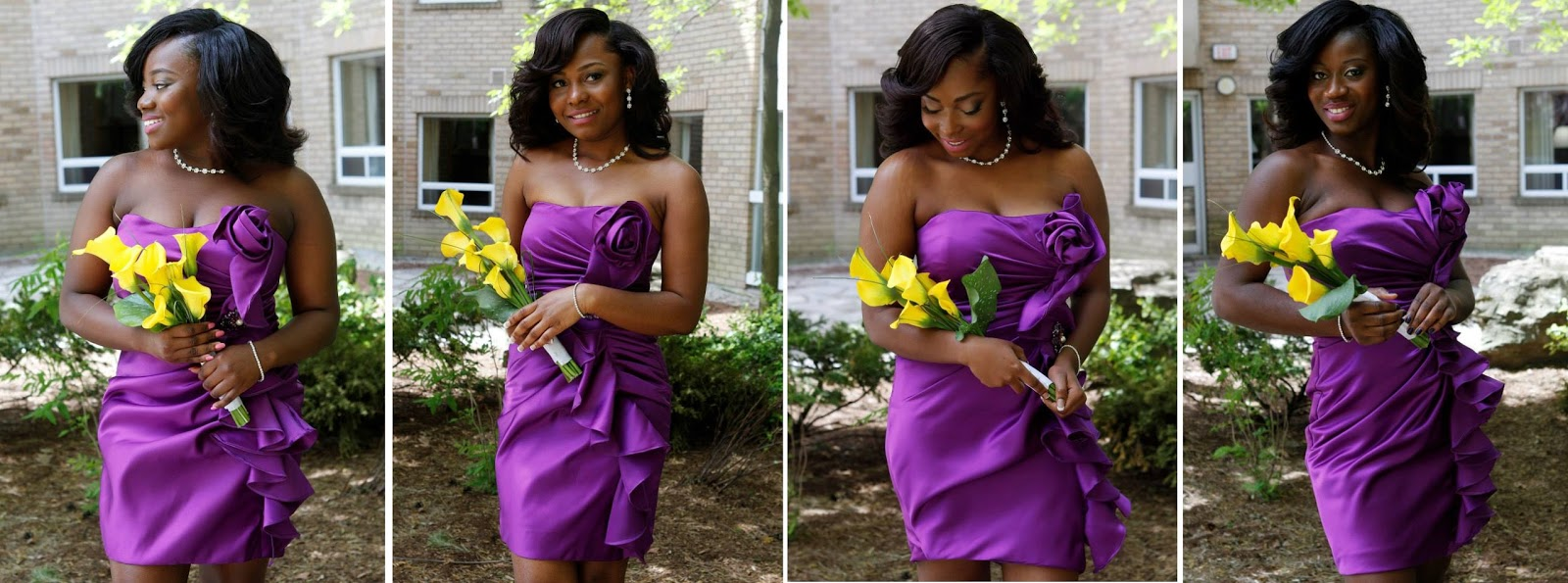 We Love The Color Theme From Aal And Emmanuel S Wedding Deep Shade Of Purple Is Well Complemented By Bright Yellow Enjoy Get Inspired