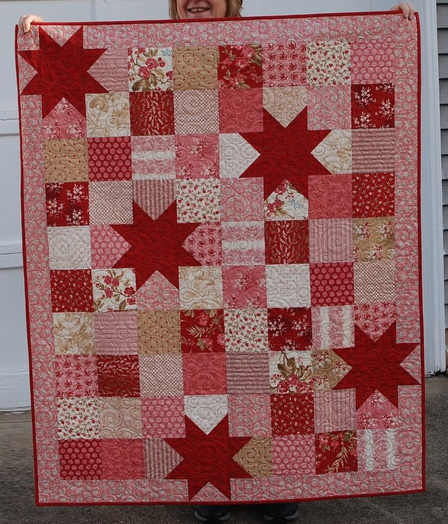 Oh My Stars Quilt Free Pattern designed by Pat Sloan