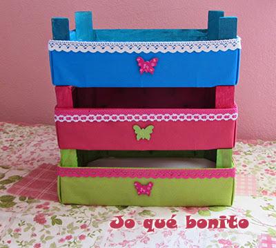 Cajas de fresas decoradas con telas aprender - Manualidades con cajas de frutas ...