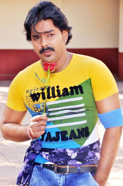 Pawan Singh in Yellow T-Shart