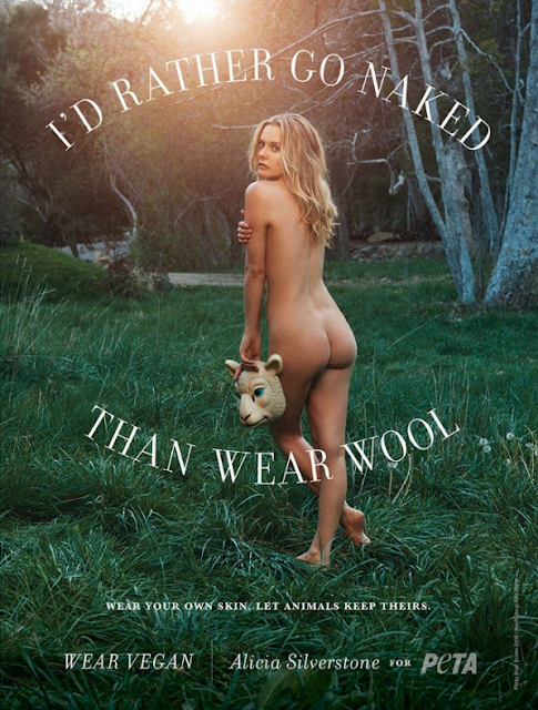 Alicia Silverstone goes nude for PETA