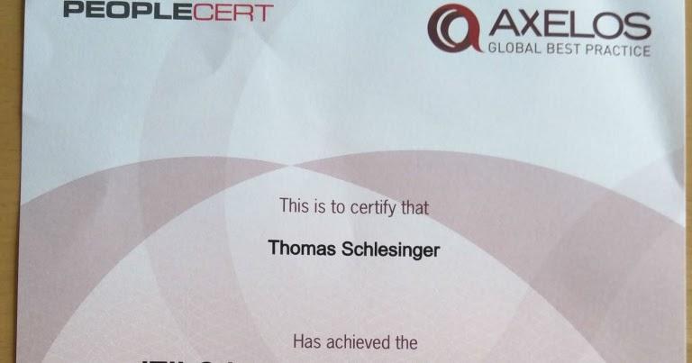 Itil Zertifikate