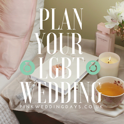 Wedding planning book on bedside table with cup of tea