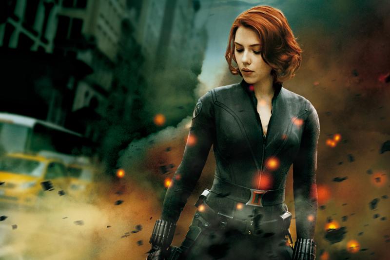 Superhero cantik Scarlett Johansson Sebagai Natasha Rumanoff a.k.a Black Widow pakai Lateks