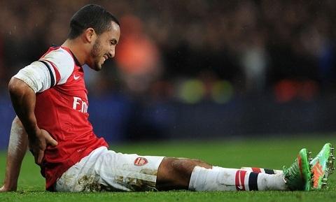 Walcott cầu thủ không may mắn vì gặp nhiều chấn thương