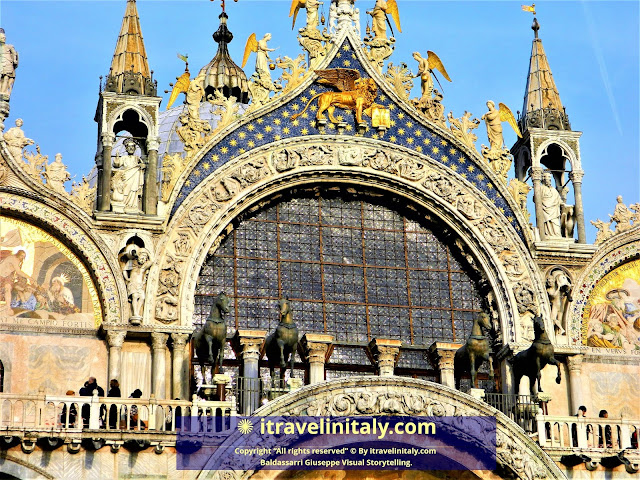 """St Mark's Square Venice and basilica Italy Piazza San Marco in Venezia Copyright """"All rights reserved"""" © By itravelinitaly.com Baldassarri Giuseppe Visual Storytelling."""