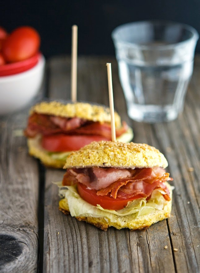 Cauliflower Bagel BLTs