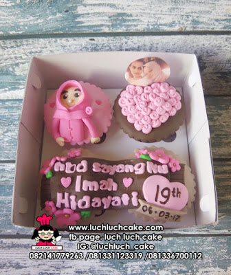Cupcake Fondant 2D Untuk Anak Cewek