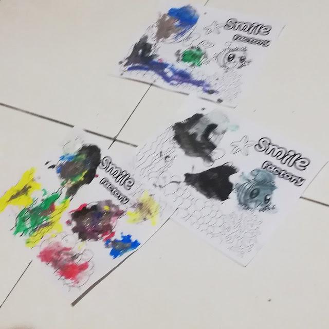 Artworks Dhia dan Dzal Menggunakan Water Color