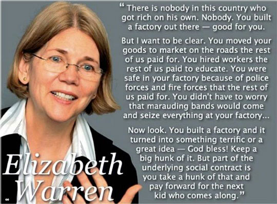 no truer words elizabeth warren