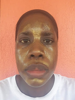 Peter Thomas Roth 24K Gold Mask Pure Luxury Lift and Firm Mask applied - www.modenmakeup.com