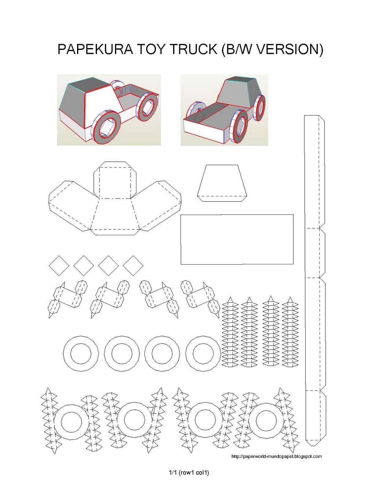 Pepakura (C) Toy Truck