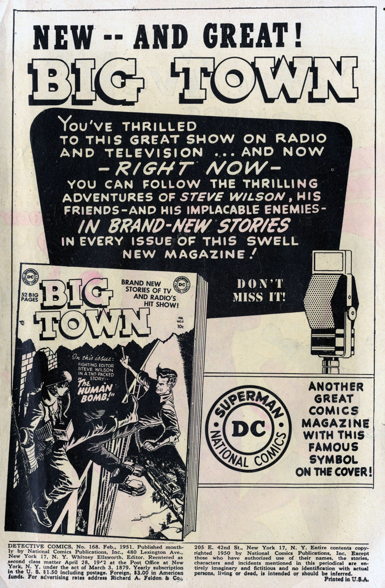 Detective Comics (1937) 168 Page 1