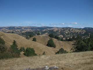 View of distant hills from high atop King Ridge, Sonoma County, California